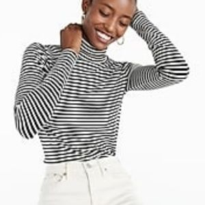 J. Crew striped Tissue Turtleneck t shirt Med